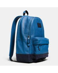 COACH Black Modern Varsity Campus Backpack for men