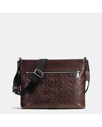COACH - Brown Sam Crossbody In Signature Sport Calf Leather for Men - Lyst