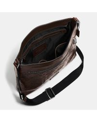 COACH | Brown Sam Crossbody In Signature Sport Calf Leather for Men | Lyst