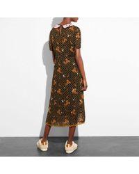 COACH Black Embroidered Bouquet Dress