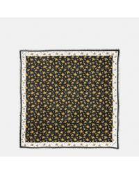 COACH - Black Punk Roses Oversized Square - Lyst
