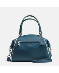 COACH Blue Prairie Satchel In Edgestain Leather