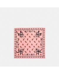 : Bandana en soie avec fleurs et il de la providence COACH en coloris Pink