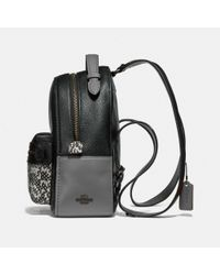 COACH Black Mini Campus Colorblock Backpack