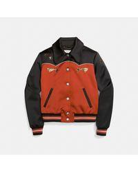 COACH Multicolor Shrunken Varsity Jacket