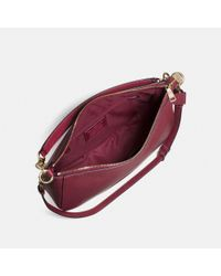 COACH Brown Chelsea Hobo 32 In Polished Pebble Leather