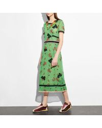 COACH Green Embroidered Nautical Dress