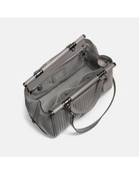 COACH - Gray Grace Bag In Quilted Leather - Lyst