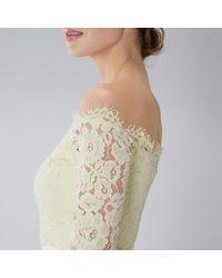 Coast Yellow Imi Lace Maxi Dress