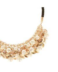 Coast - Metallic Adara Beaded Necklace - Lyst