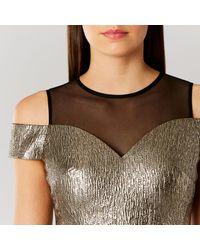 Coast - Jiana Metallic Bardot Dress - Lyst