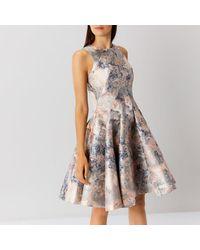 Coast - Multicolor Blair Marble Jacquard Dress - Lyst
