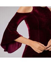 Coast - Red Celestine Velvet Shift Dress - Lyst