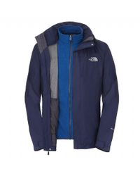 The North Face - Blue Zephyr Triclimate Jacket for Men - Lyst