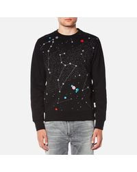 PS by Paul Smith | Black Men's Printed Stars Long Sleeve Sweatshirt for Men | Lyst