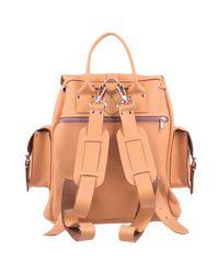 Grafea Orange Peaches & Cream Medium Leather Rucksack for men