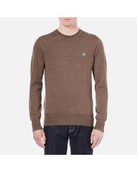 Vivienne Westwood | Brown Men's Classic Roundneck Knitted Jumper for Men | Lyst
