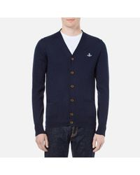 Vivienne Westwood Blue Men's Classic Knitted Cardigan for men