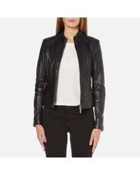 BOSS Orange | Black Women's Janabelle Leather Jacket | Lyst