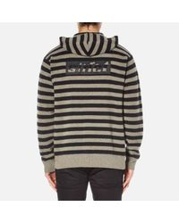 Alexander Wang Black Men's Striped Hoodie Pullover With Embroidered Artwork for men
