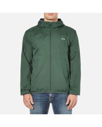 Lacoste | Green Men's Showerproof Lightweight Jacket for Men | Lyst