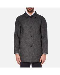 Folk | Gray Men's Clean Car Buttoned Overcoat for Men | Lyst