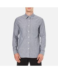 Nigel Cabourn | Blue Men's Denim Chambray Workers Shirt for Men | Lyst