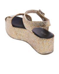Melissa - Metallic Women's Mar Flatform Sandals - Lyst