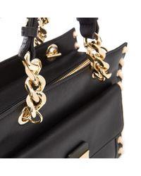 Karl Lagerfeld - Black Women's K/whipstitch Mini Tote Bag - Lyst
