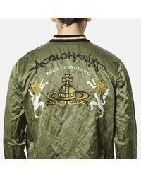 Vivienne Westwood Anglomania Green Men's Bomber Souvenir Jacket for men