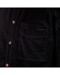 Nudie Jeans - Black Men's Calle Cord Shirt for Men - Lyst