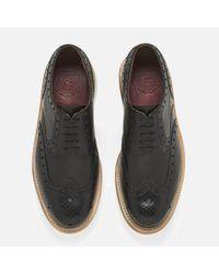 GRENSON Black Archie V Leather Brogues for men