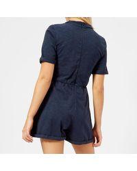 Maison Kitsuné - Blue Women's Casual Jumpsuit - Lyst