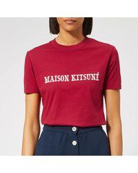 Maison Kitsuné Red T-shirt