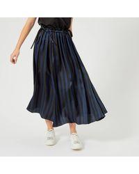 e66f7a061c KENZO Medium Stripes Viscose Jacquard Skirt in Black - Lyst