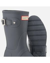 Hunter - Gray Women's Original Short Wellies - Lyst