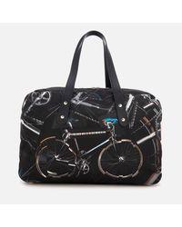 Paul Smith Black Men's Bicycle Print 24 Hour Bag for men