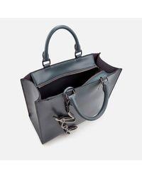 Karl Lagerfeld - Gray Women's K/metal Signature Shopper Bag - Lyst