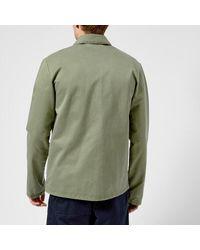 A.P.C. - Green Men's Veste Kerlouan Jacket for Men - Lyst