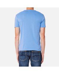 Polo Ralph Lauren Blue Men's Custom Fit Tshirt for men