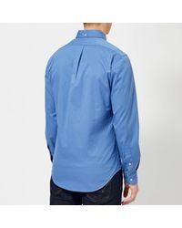 Polo Ralph Lauren Blue Garment Dye Twill Long Sleeve Shirt for men