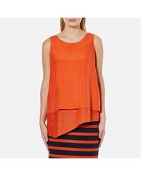 BOSS Orange - Red Evelo Top - Lyst