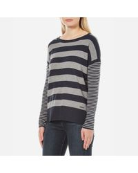 Barbour - Blue Women's Rivco Knitted Top - Lyst