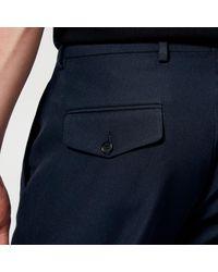 Acne Blue Boston Poly Cotton Trousers for men