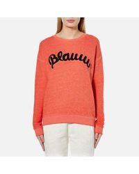 Maison Scotch   Orange Women's Blauw Burnout Sweatshirt   Lyst