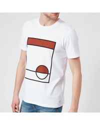 Folk - White Half Moon T-shirt for Men - Lyst