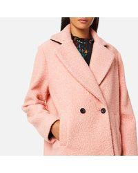 PS by Paul Smith Pink Women's Bouclé Coat