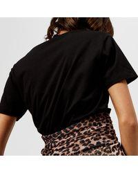Ganni Black Harway Snack Attack T-shirt