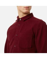 A.P.C. Red Men's Surchemise Baltimore Shirt for men