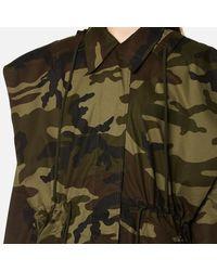 MM6 by Maison Martin Margiela - Green Women's Oversized Camouflage Parka - Lyst